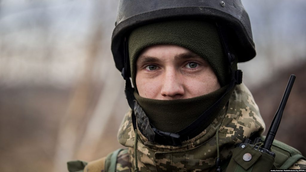 A soldier named Oleksandr at an outpost near the town of Zolotyy, in Ukraine's Luhansk region. Andriy Dubchak photo