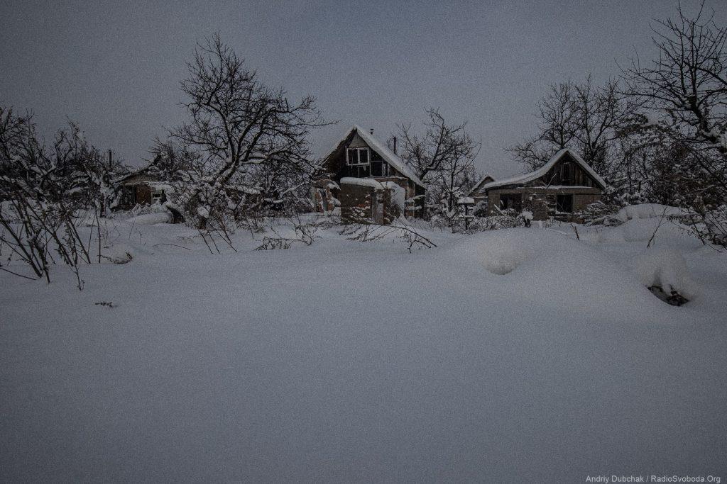Дачі Авдіївської промки взимку. Фото: Андрій Дубчак