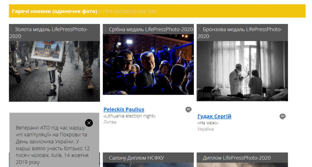 Photographer Andriy Dubchak LifePressPhoto 2020 award gold